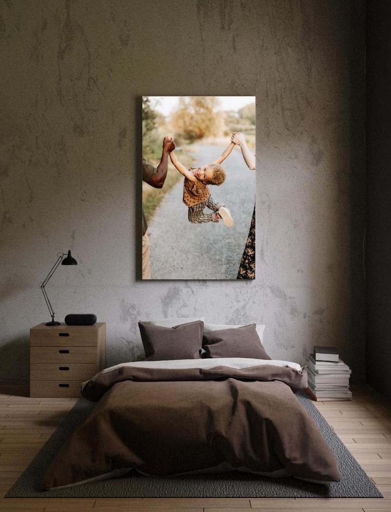 Wanddecoratie van gezinsfotografie